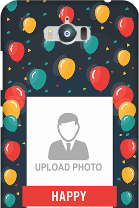 Zenfone Max ZC550KL Balloons Birthday Mobile Cover