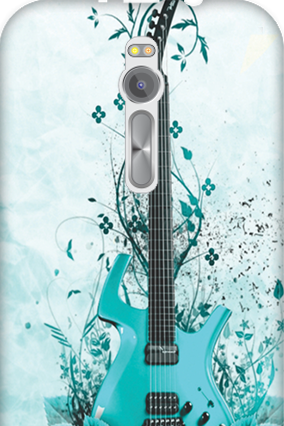 Transparent Silicon - Blue Guitar Asus ZenFone 2 Mobile Cover